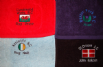 Personalised Embroidered SCOTLAND ENGLAND IRELAND WALES LAWN BOWLS / GOLF TOWEL FREEPOST UK